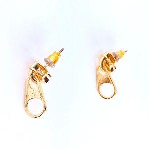 New! Gold Zipper Dangle Earrings
